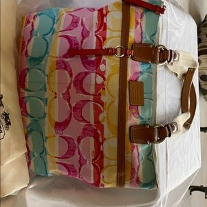 New coach purse nice summer colors